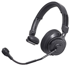 Audio Technica AT-BP-HS2S Single-Ear Broadcast Headset