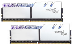 G.Skill Trident Z Royal F4-3000C16D-16GTRS (2x8GB) DDR4 Silver