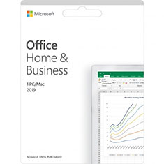 Microsoft Office 2019 Home and Business Medialess Retail Pack