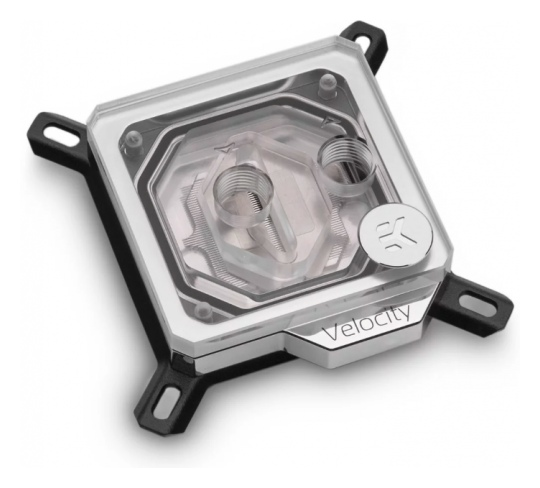 EK Velocity D-RGB CPU Waterblock Nickel Plexi