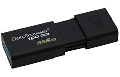 Kingston Data Traveler 100 G3 USB 3.0 Flash Drive 256GB
