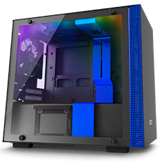 NZXT H200i Smart Mini-ITX Case Black/Blue