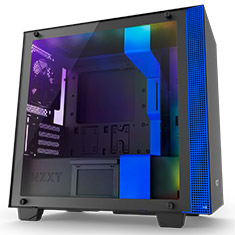 NZXT H400i Smart Case Matte Black and Blue