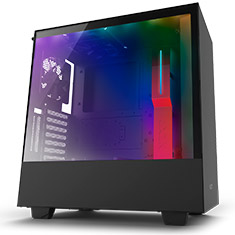 NZXT H500i Mid Tower Case Matte Black/Red