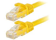 Astrotek Cat 6 Ethernet Cable Yellow 0.5m