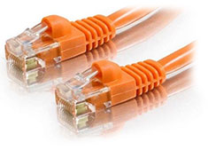 Astrotek Cat 6 Ethernet Cable Orange 2m