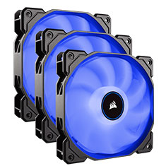 Corsair Air Series AF120 Quiet 120mm Fan Blue LED 3 Pack