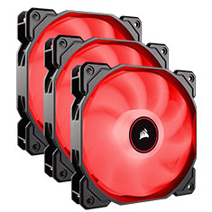 Corsair Air Series AF120 Quiet 120mm Fan Red LED 3 Pack