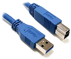 8Ware USB 3.0 Type-A to Type-B Cable M-M 3m