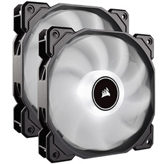 Corsair Air Series AF140 Quiet 140mm Fan White LED 2 Pack