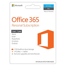 Microsoft Office 365 1 Year Subscription Medialess