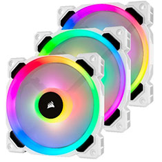 Corsair LL120 RGB White Triple Fan Kit with Lighting Node PRO