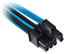 Corsair Premium Sleeved PCIe Dual Connector Cables Blue/Black