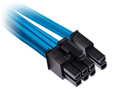 Corsair Premium Sleeved PCIe Single Connector Cables Blue