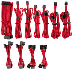 Corsair Premium Sleeved PSU Cables Pro Kit Red