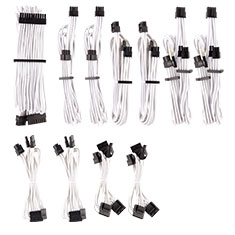 Corsair Premium Sleeved PSU Cables Pro Kit White