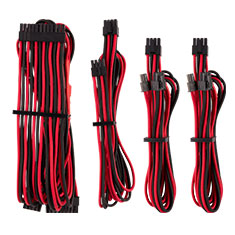 Corsair Premium Sleeved PSU Cables Starter Kit Red/Black