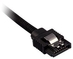 Corsair Premium Sleeved SATA Cable 30cm Black