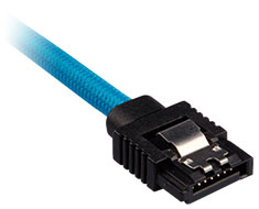 Corsair Premium Sleeved SATA Cable 30cm Blue