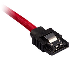 Corsair Premium Sleeved SATA Cable 60cm Red