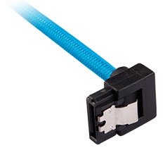 Corsair Premium Sleeved SATA Cable 90 Degree 30cm Blue 2-Pack