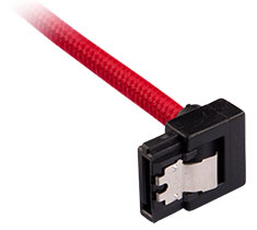 Corsair Premium Sleeved SATA Cable 90 Degree 60cm Red 2-Pack