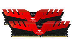 Team T-Force Dark 16GB (2x8GB) 3200MHz CL16 DDR4 Red Black