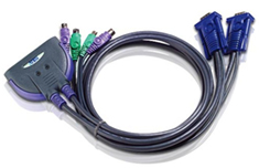 ATEN 2-Port VGA Cable KVM Switch