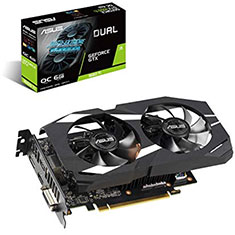 ASUS GeForce GTX 1660 Ti Dual Fan OC 6GB