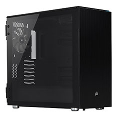 Corsair Carbide Series 678C Tempered Glass Black