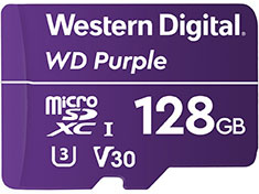 Western Digital WD Purple 128GB Survillance microSD Card