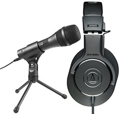 Audio Techinca M20x & USB Mic Home Recording Combo Pack