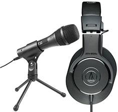 Audio Techinca M20x & USB Mic Home Recording Combo Pack