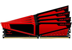 Team T-Force Vulcan 3200MHz 32GB (4x8GB) DDR4 Red