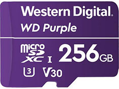 Western Digital WD Purple 256GB Survillance microSD Card