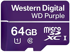 Western Digital WD Purple 64GB Survillance microSD Card