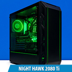 PCCG Night Hawk 2080 Ti Gaming System