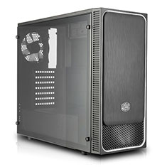 Cooler Master MasterBox E500L Case with Window Silver