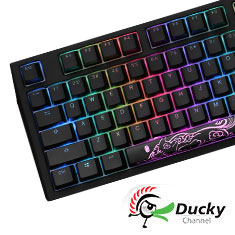Ducky Shine 7 Blackout RGB Mechanical Keyboard Cherry Silent Red