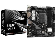 ASRock B450M Pro4-F Motherboard