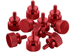 CableMod Anodized Aluminum Thumbscrews - Red