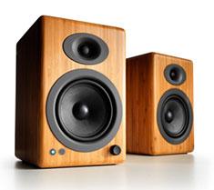 Audioengine A5+ Premium Wireless Speakers Bamboo