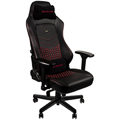 noblechairs HERO Real Leather Gaming Chair Black Red