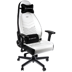 noblechairs ICON PU Leather Gaming Chair Black White