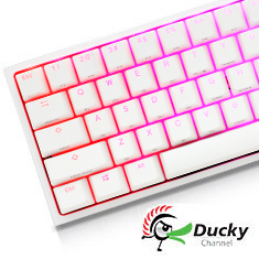 Ducky One 2 Mini White RGB Mechanical Keyboard Cherry Silent Red