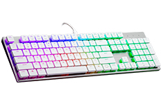 Cooler Master MasterKeys SK650 RGB RED Low Profile MX Red White