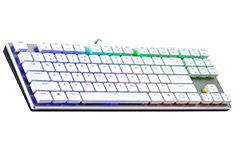 Cooler Master MasterKeys SK630 RGB Low Profile MX Red TKL White