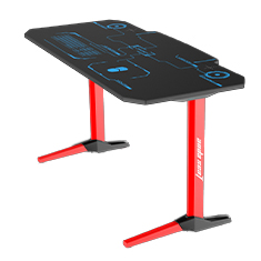 Anda Seat 1400-07 RGB Gaming Desk Red