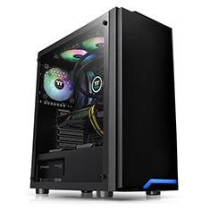 Thermaltake H100 Tempered Glass Mid Tower Chassis Black