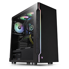 Thermaltake H200 RGB Tempered Glass Mid Tower Chassis Black